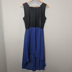 Like New! Faux Leather High-Low Dress L